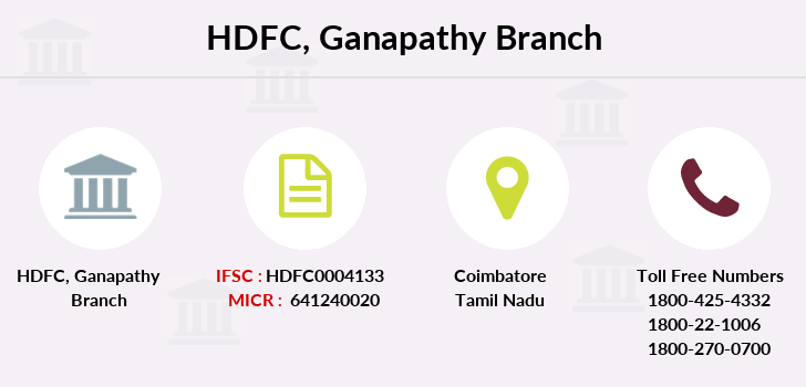 Hdfc-bank Ganapathy branch