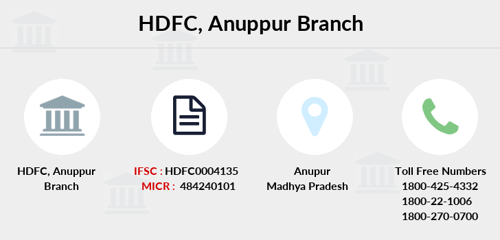 Hdfc-bank Anuppur branch