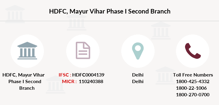 Hdfc-bank Mayur-vihar-phase-i-second branch