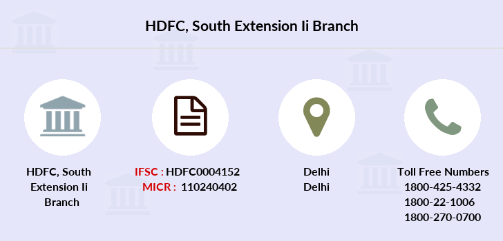 Hdfc-bank South-extension-ii branch
