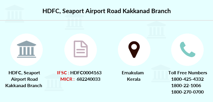 Hdfc-bank Seaport-airport-road-kakkanad branch