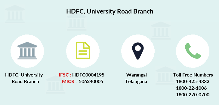 Hdfc-bank University-road branch