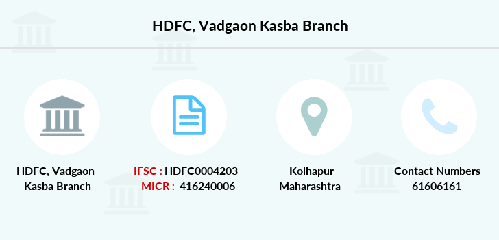 Hdfc-bank Vadgaon-kasba branch