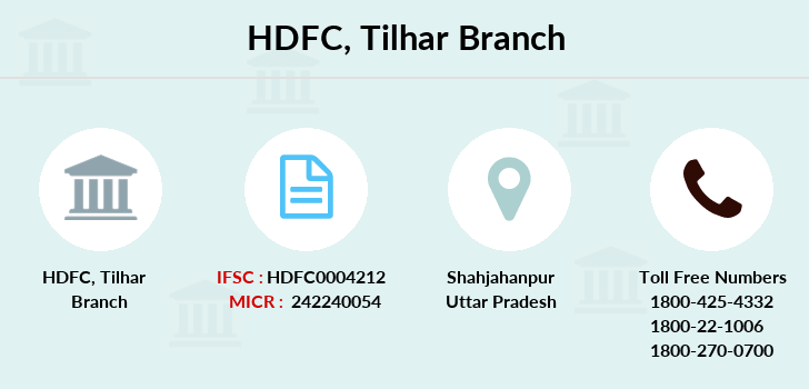 Hdfc-bank Tilhar branch