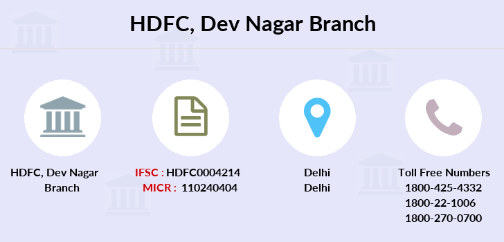 Hdfc-bank Dev-nagar branch