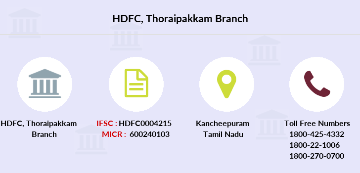Hdfc-bank Thoraipakkam branch