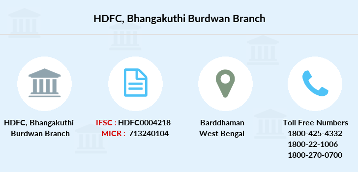 Hdfc-bank Bhangakuthi-burdwan branch