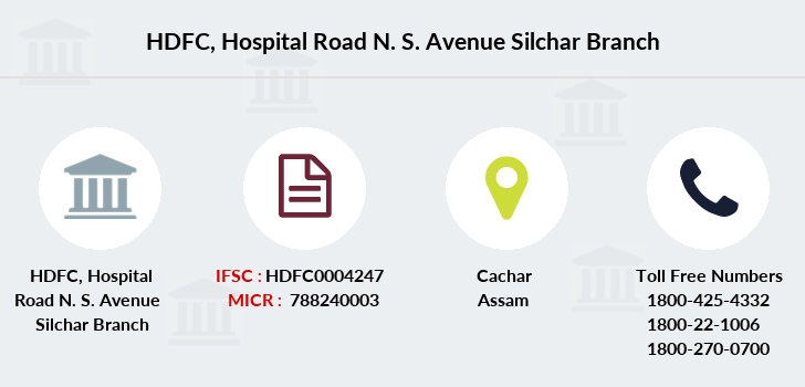 Hdfc-bank Hospital-road-n-s-avenue-silchar branch