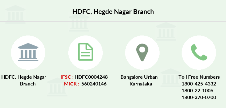 Hdfc-bank Hegde-nagar branch