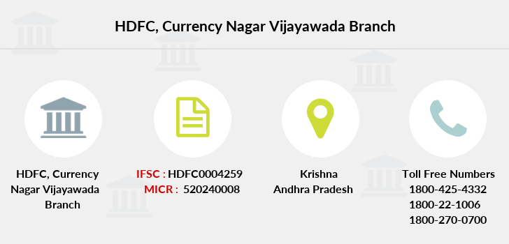 Hdfc-bank Currency-nagar-vijayawada branch