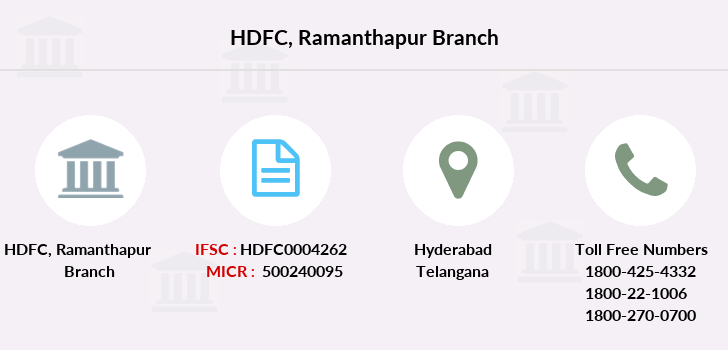 Hdfc-bank Ramanthapur branch