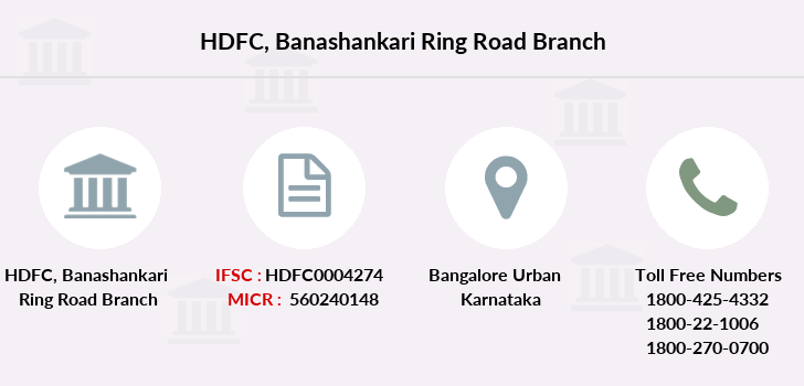 Hdfc-bank Banashankari-ring-road branch