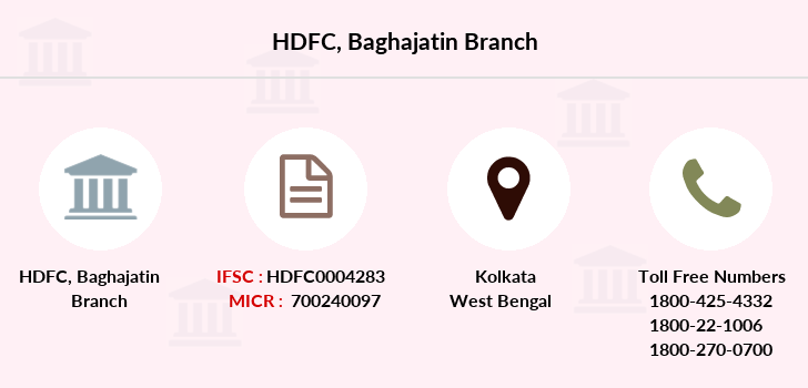 Hdfc-bank Baghajatin branch