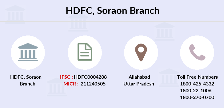 Hdfc-bank Soraon branch