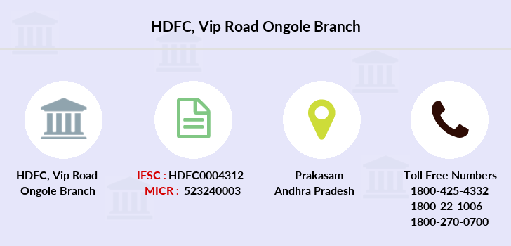 Hdfc-bank Vip-road-ongole branch