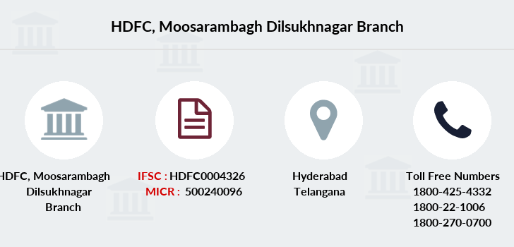 Hdfc-bank Moosarambagh-dilsukhnagar branch