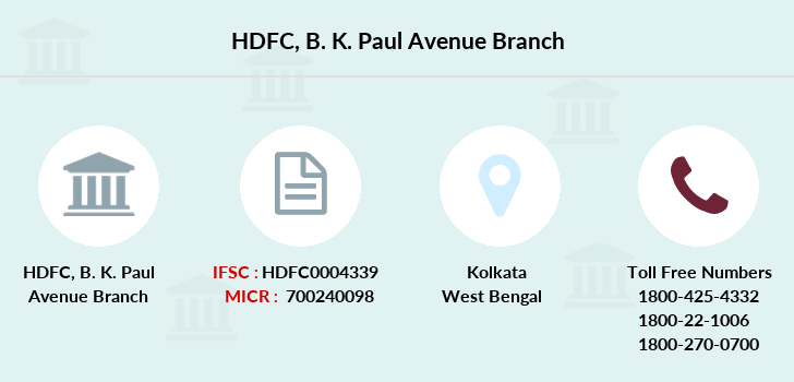 Hdfc-bank B-k-paul-avenue branch
