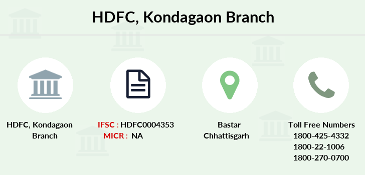 Hdfc-bank Kondagaon branch