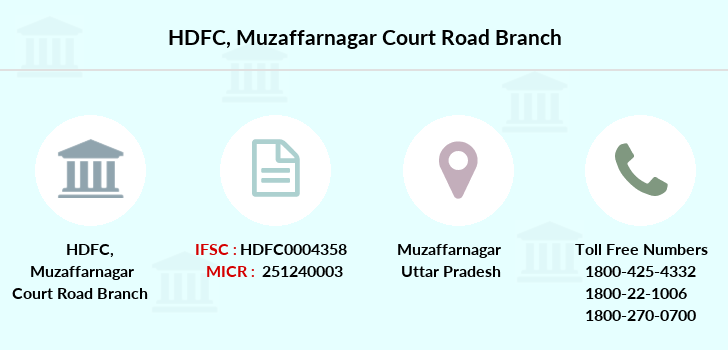 Hdfc-bank Muzaffarnagar-court-road branch