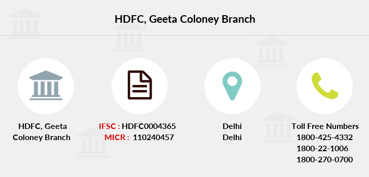 Hdfc-bank Geeta-coloney branch