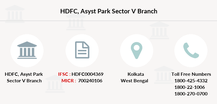 Hdfc-bank Asyst-park-sector-v branch