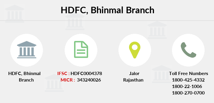 Hdfc-bank Bhinmal branch