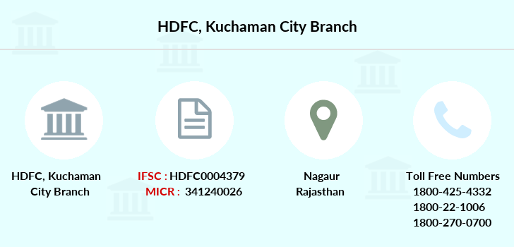 Hdfc-bank Kuchaman-city branch