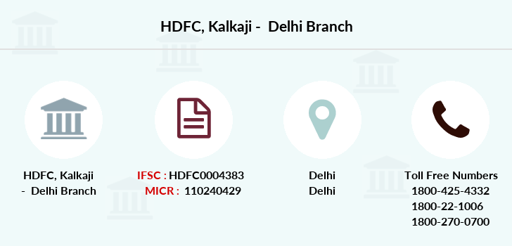 Hdfc-bank Kalkaji-delhi branch