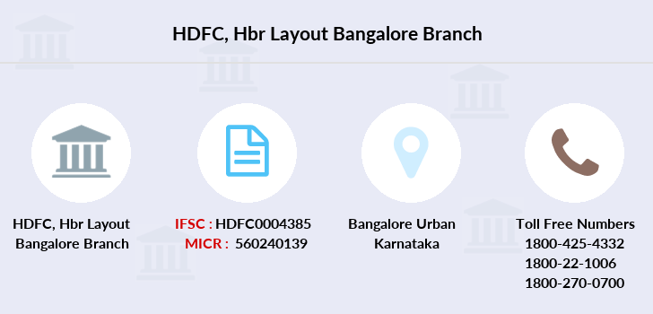 Hdfc-bank Hbr-layout-bangalore branch