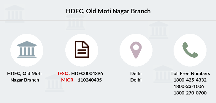 Hdfc-bank Old-moti-nagar branch