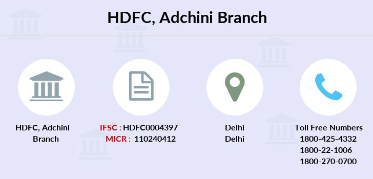 Hdfc-bank Adchini branch