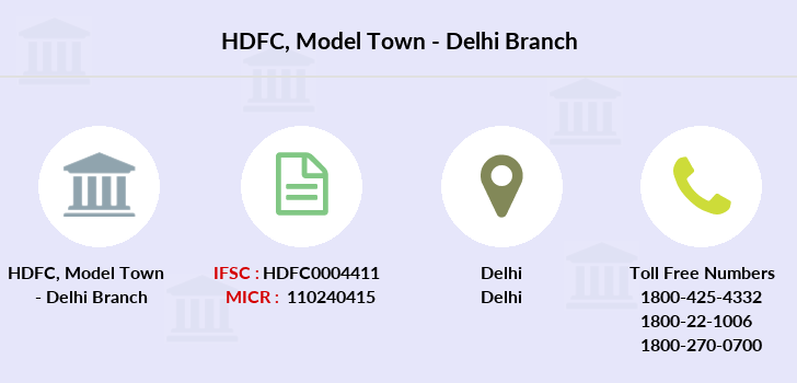 Hdfc-bank Model-town-delhi branch