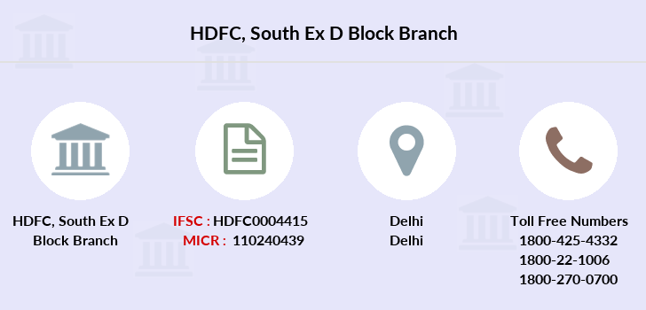 Hdfc-bank South-ex-d-block branch