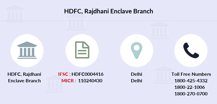 Hdfc-bank Rajdhani-enclave branch