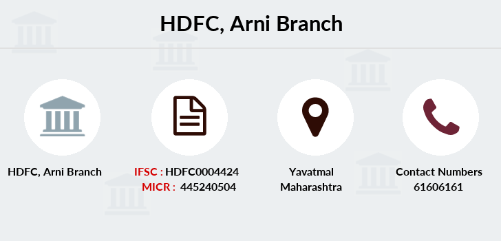 Hdfc-bank Arni branch