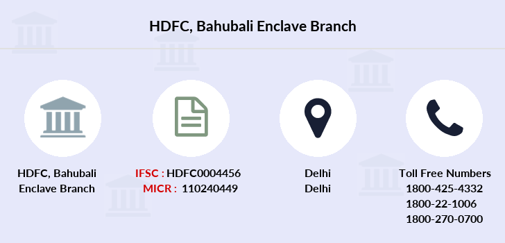 Hdfc-bank Bahubali-enclave branch