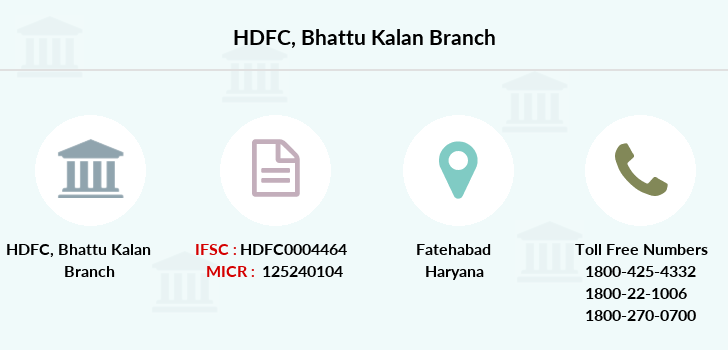 Hdfc-bank Bhattu-kalan branch