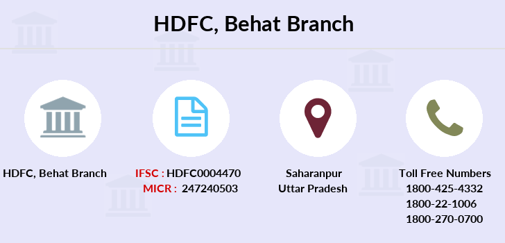 Hdfc-bank Behat branch