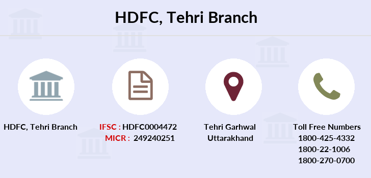 Hdfc-bank Tehri branch