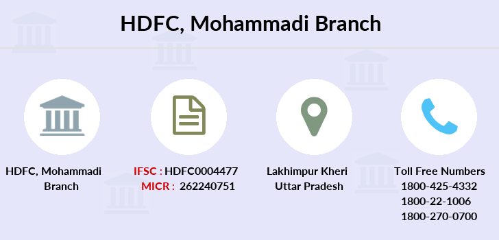 Hdfc-bank Mohammadi branch