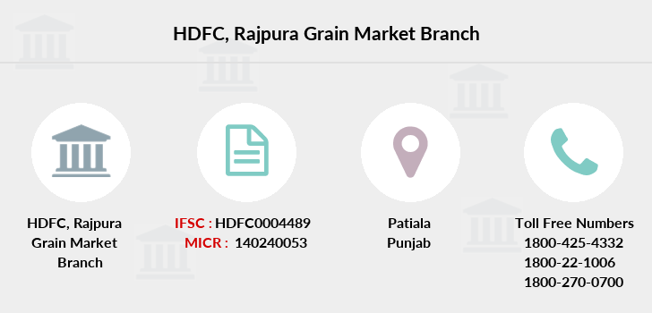 Hdfc-bank Rajpura-grain-market branch