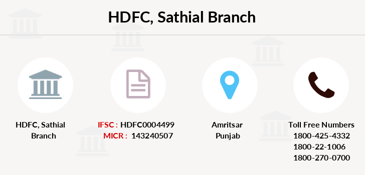 Hdfc-bank Sathial branch