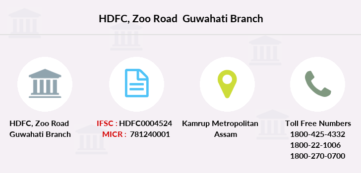 Hdfc-bank Zoo-road-guwahati branch
