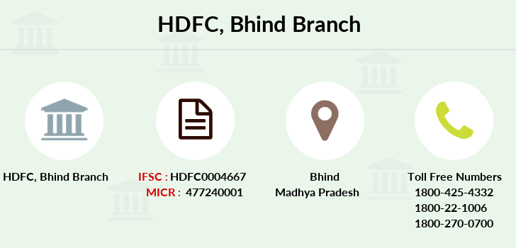 Hdfc-bank Bhind branch