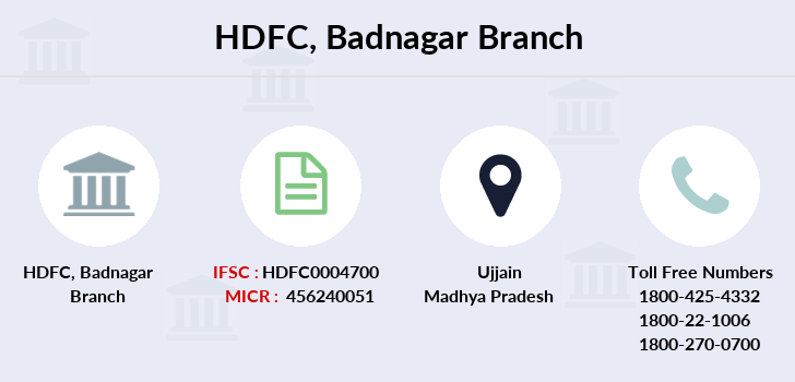 Hdfc-bank Badnagar branch