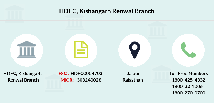 Hdfc-bank Kishangarh-renwal branch