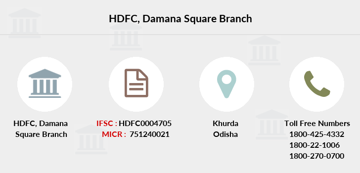 Hdfc-bank Damana-square branch