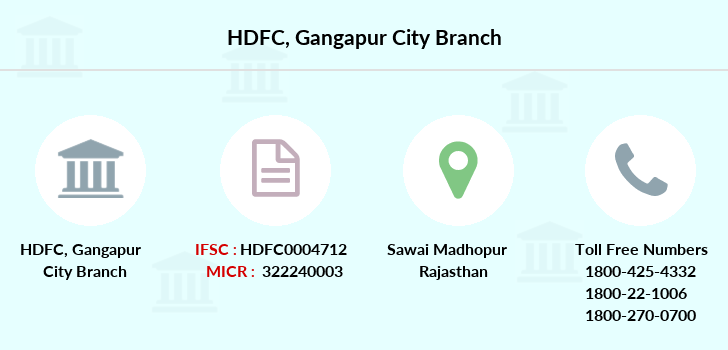 Hdfc-bank Gangapur-city branch