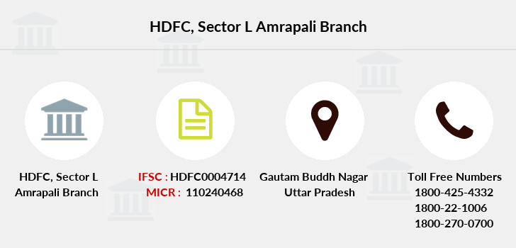 Hdfc-bank Sector-l-amrapali branch