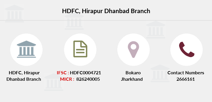 Hdfc-bank Hirapur-dhanbad branch